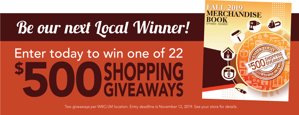 Enter to win one of 22 $500 Shopping Giveaways!
