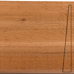 Bevel Cedar sample